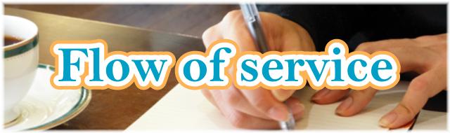 ご依頼からの流れ – Flow of service –